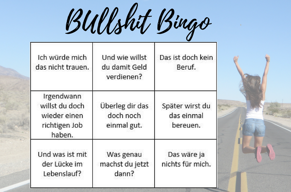 Bullshit Bingo - unnützes Feedback wenn du dein Ding machst und dich selbstständig machst