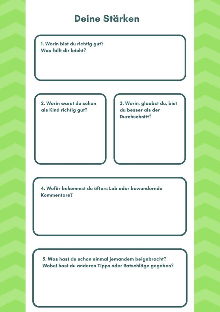 Freebie: 20 Fragen und Übungen, um dein Ding zu finden