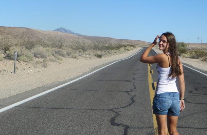 Anna auf Roadtrip in den USA